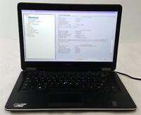 """Dell Latitude E7440 Laptop Computer i5 4th Gen. 256GB SSD 8GB 14"""" No OS/AC ***"""