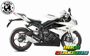 TRIUMPH 675R STREET TRIPLE TIGER ROCKET CRYSTAL WHITE 3 STAGE TOUCH UP PAINT.