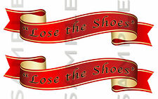 Lose The Shoes Red Ribbon sticker Kit, Truck Steps car van
