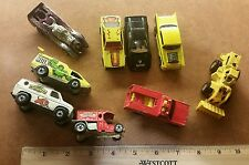 9x Vintage Hotwheels Lot 1970-1986 Ferrari Ringling Bros & Hulk Van, 57 Chevy