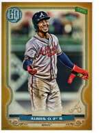 Ozzie Albies 2020 Topps Gypsy Queen 5x7 Gold #238 /10 Braves