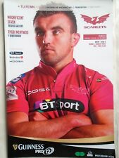 scarlets  v  newport gwent dragons  2014 RUGBY PROGRAMME free p&p to uk