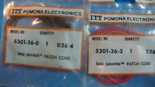 """Pomona SMD GRABBER TEST CLIP each end 5301-36 36"""" ONE RED AND ONE BLACK"""