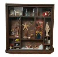 Shadow Box Decorative Shelf Sitter Wall Hanging Vintage Handmade Trinket Case