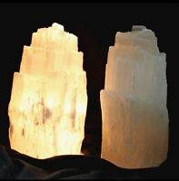 Selenite Lamp And Cord Selenite Tower Crystal Gemstone Night Light Chakra Gift.