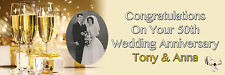 PERSONALISED GOLDEN WEDDING ANNIVERSARY 50TH BANNER LARGE ADD PHOTOS ANY TEXT