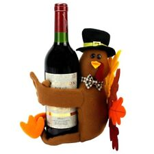 Thanksgiving Fall Turkey Hugger Wine Bottle Cover NEW