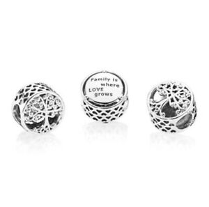 Pandora Charm Openwork Family Roots Charm Family Tree Sterling Silver S925 ALE