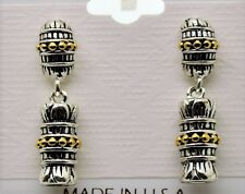 simply unique Design Style Rhodium Plated two tone color fashion Earrings #5-27