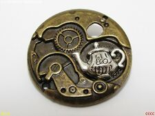 steampunk brooch badge pin silver teapot Alice in wonderland tea duelling