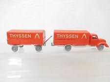 eso-4780IMU Replika 1:87 Magirus Pritschen LKW Thyssen sehr guter Zustand,