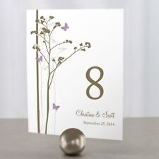 Personalized Romantic Butterfly Wedding Table Numbers