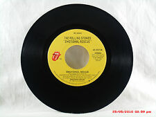 THE ROLLING STONES-(45)- EMOTIONAL RESCUE / DOWN IN THE HOLE ROLLING STONES-1980