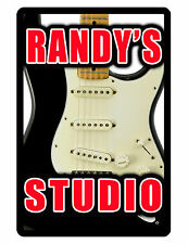 Personalized STUDIO Sign Printed with YOUR NAME..Custom Personalized Signs.strat