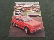 1984 1985 YUGO Zastava 45 55 311 511 513 411 413 GL - UK SINGLE SHEET - BROCHURE
