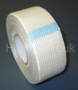 PLASTERBOARD WALL JOINT TAPE SCRIM REPAIR CRACK PATCHE HOLE STRONG MESH ADHESIVE