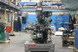 XYZ 1500 Milling Machine With Tooling & Digital Read Out