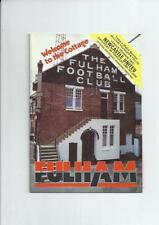 Fulham Second Division Home Teams F-K Football Programmes