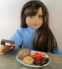 AG Doll Miniature Roast Beef, Whole Potato and Carrot Dinner with Dessert