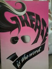 Grease programme 1994 includes 4 tickets