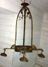 MONTURE DE LUSTRE ART DECO pour TULIPE PATE DE VERRE MULLER LAMPE 1920 Fer forgé