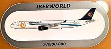 IBERWORLD, Airbus A330-300 Sticker, High Quality Print, new, HIGHLY RARE !!!