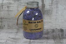 Lavender Bath Salt Aromatherapy soak with dead sea salt detox lavender buds 400g