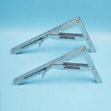 2PCS Heavy Duty Stainless Steel Folding Shelf Bench Table Folding Desk Bracket