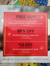 Bath and Body Works Coupons {3} - Gift & 20% off purchase - Expires 11/2020