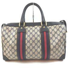 Gucci Hand Bag  Navy Blue PVC 1408741