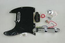 Cali 62 Telecaster Tele LOADED PICKGUARD Pickups Prewired BLACK Left Handed 0283