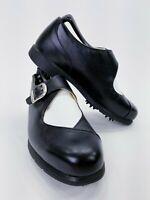 Nike Air Golf Comfort Golf Shoes Size 6.5 Black White Saddle Verdana Last
