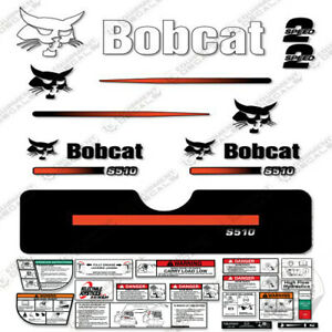 Bobcat S510 Compact Track Loader Decal Kit Skid Steer (Straight Stripes)