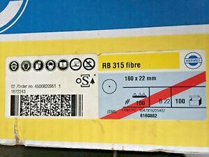 Hermes Fibre Discs RB315 Fibre 180x22mm B22 [100 discs] (GT6)