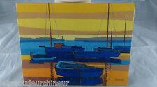 Peinture marine signée. Marine paint signed