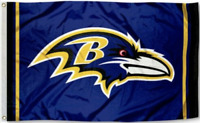 Ravens Flag 3X5 Baltimore Raven Banner American Football Fast USA Shipping New