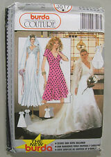 UNCUT BURDA Couture #3517 Wedding Dress V-Neck Sewing Pattern USA Size 8 - 18