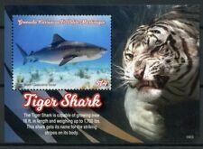 Grenadines Grenada 2019 MNH Sharks Tiger Shark 1v S/S I Marine Animals Stamps