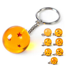 2x Keychain Keyring Pendant Anime 1-7 Stars Fit for Dragon Ball Z Cosplay set