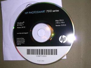 CD ROM (CQ877-10001) Setup Software HP PhotoSmart 7510 Series Windows XP Vista 7