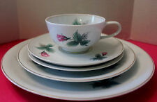 ROSENTHAL HP  VICTORIA ROSE 5 PIECE PLACE SETTING  EXCELLENT