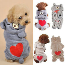 Pet Dog Winter Pajamas Love Costume Clothes For Small Dogs Puppy Coat Hoodies UK