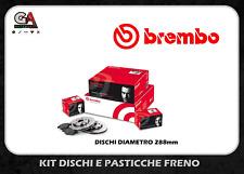 KIT DISCHI + PASTIGLIE FRENO BREMBO AUDI A3 (8P1) 2.0 TDI 16V 103KW 140CV ANTER.