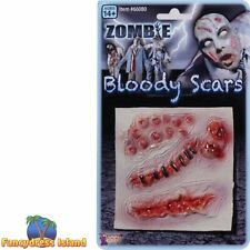 HALLOWEEN HORROR ASSORTED ZOMBIE SCARS Fancy Dress Stage FX Make Up