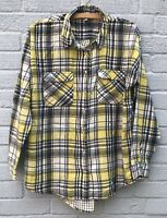 Next Women's Blue/Yellow Plaid Shirt Brushed Cotton Fully Lined Size 14