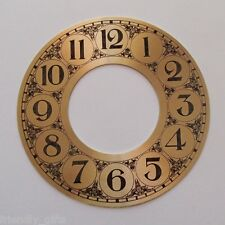 143mm Time Ring Gold Colored Metal Clock Dials, Black Arabic Numerals