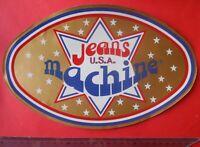 ADESIVO  STICKER  AUTOCOLLANT  JEANS MACHINE  ANNI '80  VINTAGE 29x18 cm