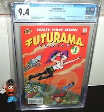 FUTURAMA #1 BONGO 2000 TV CARTOON FRY LEELA BENDER 1ST APPEAR CGC GRADED 9.4 NM