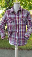Wrangler Wrancher Pearl Snap Western Shirt, Womans size S
