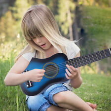 Mini Acoustic Guitar For Kids Beginners Compact Wood Musical Instrument Gift US